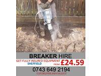 240V Concrete Breaker for Hire