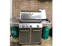 Weber Genesis E-330 Smoke GBS Gas Barbeque with Side burner