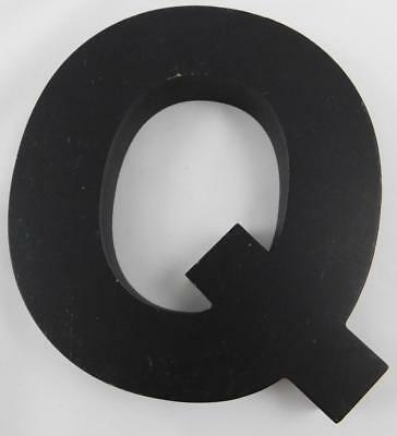 Trend Stop Wooden Letter Q Black New (A)