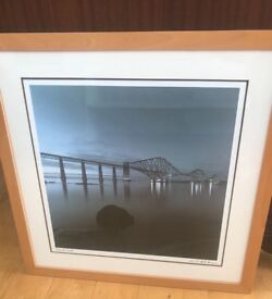 Large framed photo of the firth of forth