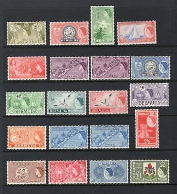 Bermuda 1953-58 Complete Set - OG MLH - SC# 143-62  Cats $110.05  No Reserve!