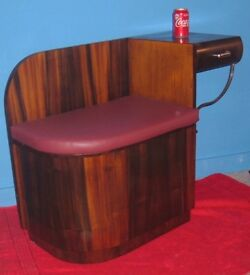 VINTAGE TELEPHONE SEAT. CABINET, CHEST, DARK BROWN AND VERY NICE COLLECTABLE