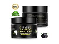 100% Natural Bamboo Charcoal Teeth Whitening, for Stains, Tartar, Yellow Teeth (50g, 1.76oz)