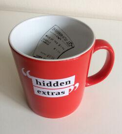 Humour Red Coffee Tea Mug 'Hidden Extras'