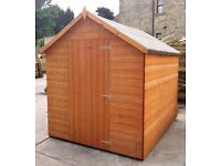 7x5 T&G Apex Garden Shed Factory seconds FULLY T&G 7FT x 5FT