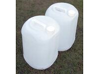 5 x 25l Plastic Barrels Empty - Ascot Berkshire