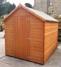 8x6 T&G Wooden Garden Shed Apex Factory Seconds - FULLY T&G 8ft x 6ft - NEW shed.