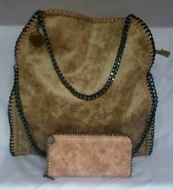 beige fashion bag set