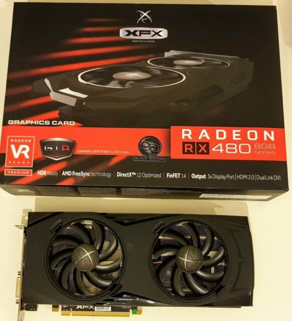 AMD Radeon XFX RX 480 GTR Black Edition 8GB (same as RX 580) - Mint  condition | in Cardiff | Gumtree