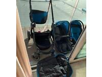 Journey 4 wheel Mothercare pushchair, 3in 1