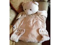 NIGHTIE/PJ HIDER/HOLDER WHITE TEDDY BEAR