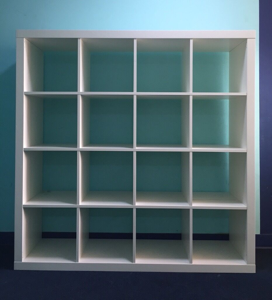 Ikea expedit bookcase white 4x4 in hackney london for Ikea expedit bookcase tv stand