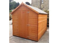FULLY T&G - 6x4 Apex garden shed, hut, store- Factory seconds **Fast supply**