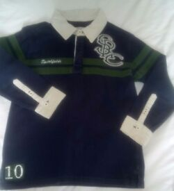 Navy rugby shirt age 8 NEXT