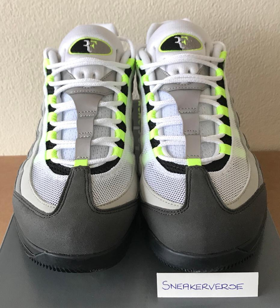 a334f992d336 Nike NikeCourt Vapor RF x Air Max 95 AM95  Neon  UK 9.5 - AO8759 078 Black  Grey Neon Yellow