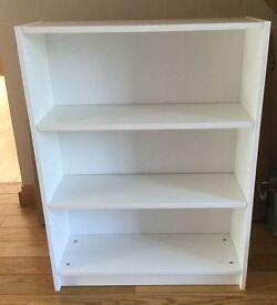 White bookcase 80x28x106 cm