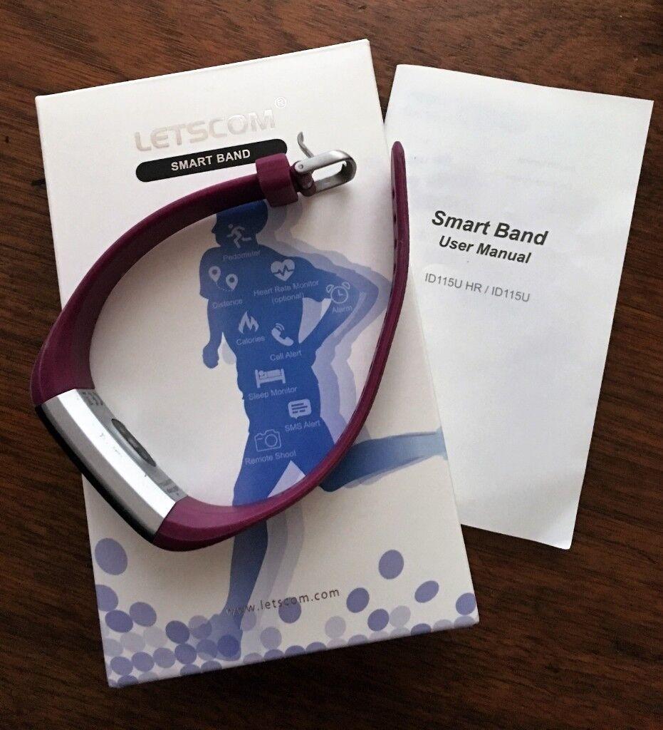 Purple Letscom Fitness Tracker - Boxed & like new | in Torquay, Devon |  Gumtree