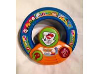 VTECH SPIN AND EXPLORE MUSICAL STEERING WHEEL IN GOOD WORKING CONDITION
