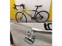 Carrera road bike with Shimano pedals
