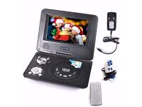 New Portable DVD Player (Card Reader + USB) with 7.8 inch LCD Screen for Travel Car Home
