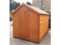 FULLY T&G - 8x6 Apex garden shed, hut, store- Factory seconds **Fast supply**