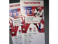 2 Tickets London Rugby Sevens Twickenham Finals 3 June
