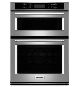 KitchenAid KOCE507ESS 27 Combination Wall Oven with Even-Heat True Convection, Hidden Bake Element