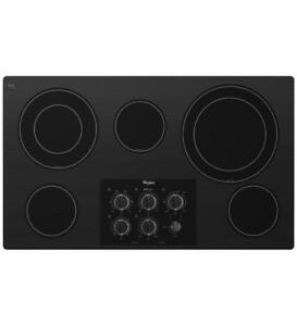 4-Element Smooth Surface Electric Cooktop Whirlpool G7CE3635XB (BD-971)