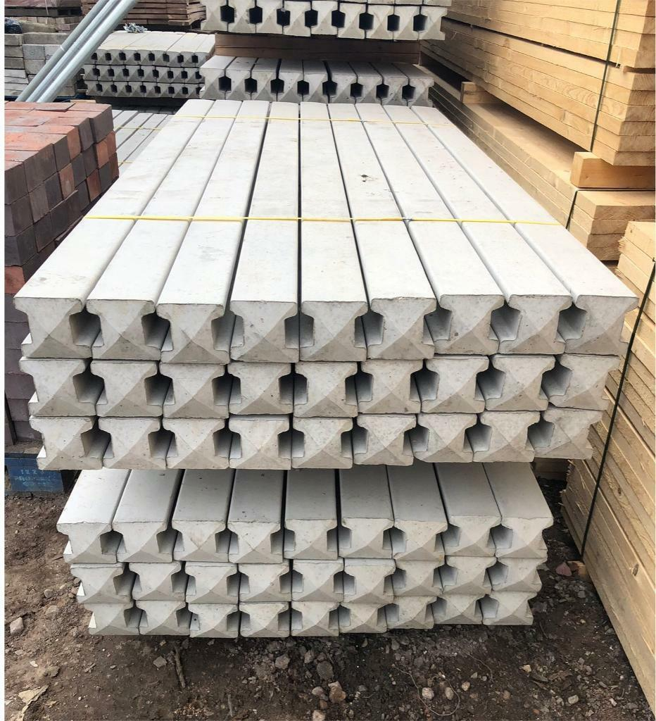9ft Various Sizes 5ft 8ft 6ft 7ft Concrete Reinforced Corner Slotted Posts