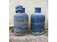 Free 2x 15kg Empty Butane cylinders ideal woodburner / stove conversion project.