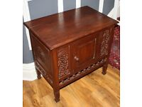 Oriental Hand Carved Rosewood Hallway Cabinet / Unit