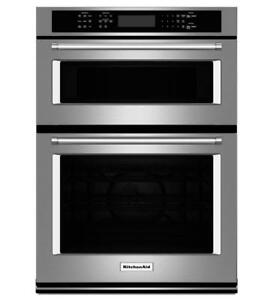 Four double encastrable KitchenAid 27 po, Stainless, Showroom