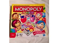 Monopoly Junior Party Board Game Hasbro 2011. Complete And Very Good Condition.