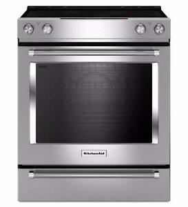 Cuisinière en stainless 30'', Convection, KitchenAid