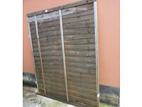 Garden Fence Panel 145H x 180W cm (Free Collection)