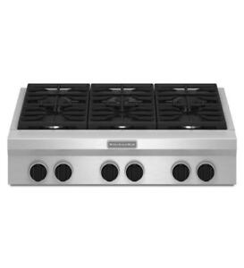 KitchenAid®  36-Inch 6-Burner Gas Rangetop KGCU467VSS (MP_168)