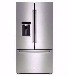 Réfrigérateur 36po portes françaises, KitchenAid
