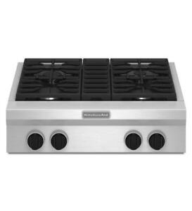 KITCHENAID  KGCU407VSS 30  4 BURNERS GAS COOKTOP (BD-1501)