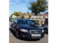 Audi A6 2007 tinted windows black leather