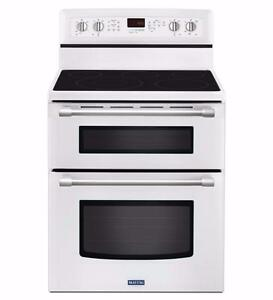 2 CHOICES - 30'' range, Double oven, White/Black, Maytag