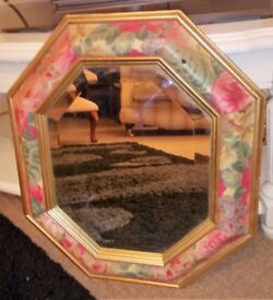 Lovely Small Octagonal Mirror 40 x 44cms