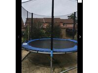 10ft trampoline all parts and enclosure