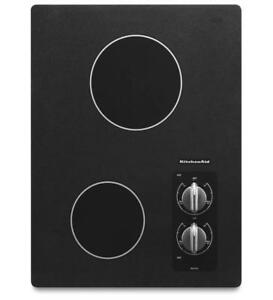 "KITCHENAID NEW KECC056RBL 15"" ELECTRIC, 2 ELEMENTS, CERAN COOKTOP (BD-1506)"