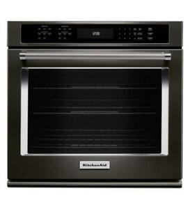 KITCHENAID NEW KOSE507EBS 27 SINGLE CONVECTION SELF CLEAN OVEN  SINGLE WALL OVEN(BD-1543)