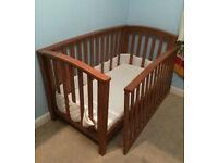 Mamas and Papas Alpine Cot Bed and mattress