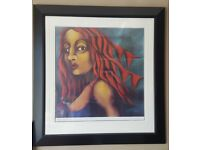 Framed Print - 'Banner Girl'