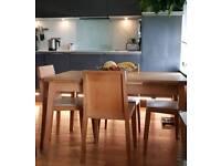 Beautiful Habitat oak table and chairs