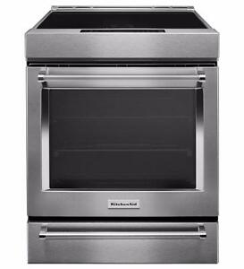 Cuisinière stainless 30, Induction, Convection, KitchenAid, Show room