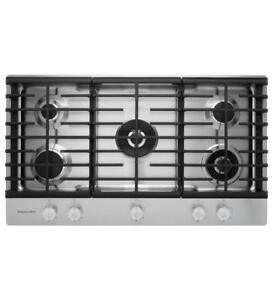 "KITCHENAID NEW KCGS556ESS 36"" GAS 5 BURNERS COOKTOP (BD-1515)"