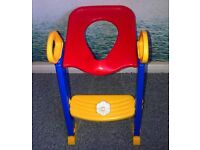 Toddler toilet training ladder seat